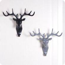 Creative Small Plastic Deer Decor Wall Rack for Living Room