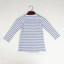 Cute Mouse Girl's Striped Patchwork Dress