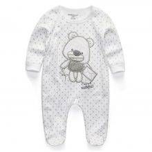 Lovely Casual Long-Sleeved Cotton Baby Jumpsuit