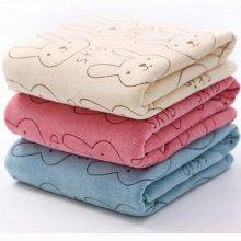 Lovely Patterned Soft Cotton Baby Bath Towel